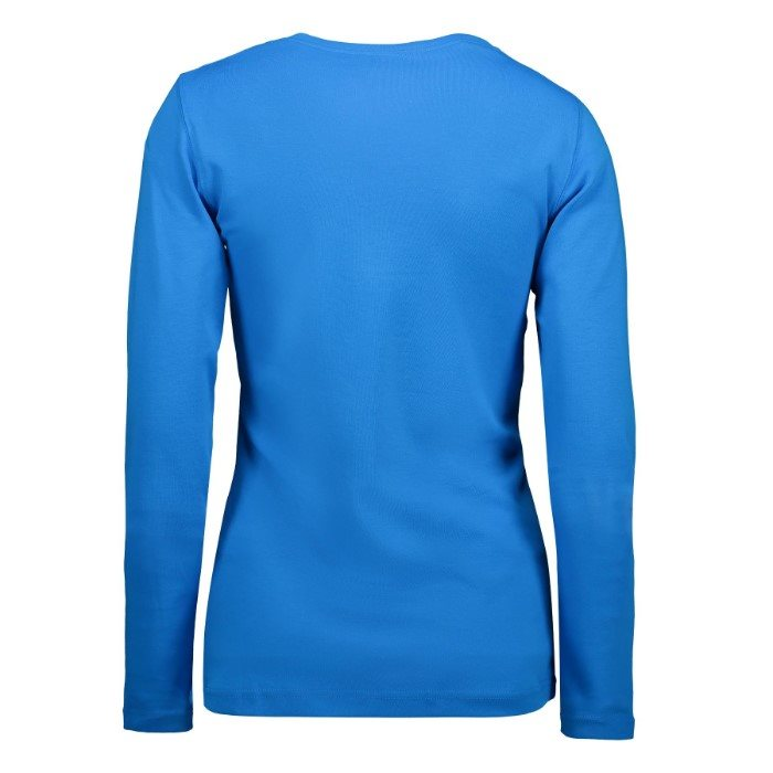 Interlock langærmet T shirt dame